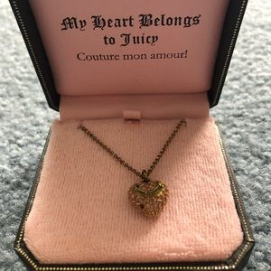 Juicy Couture Pink Heart Necklace Original Box